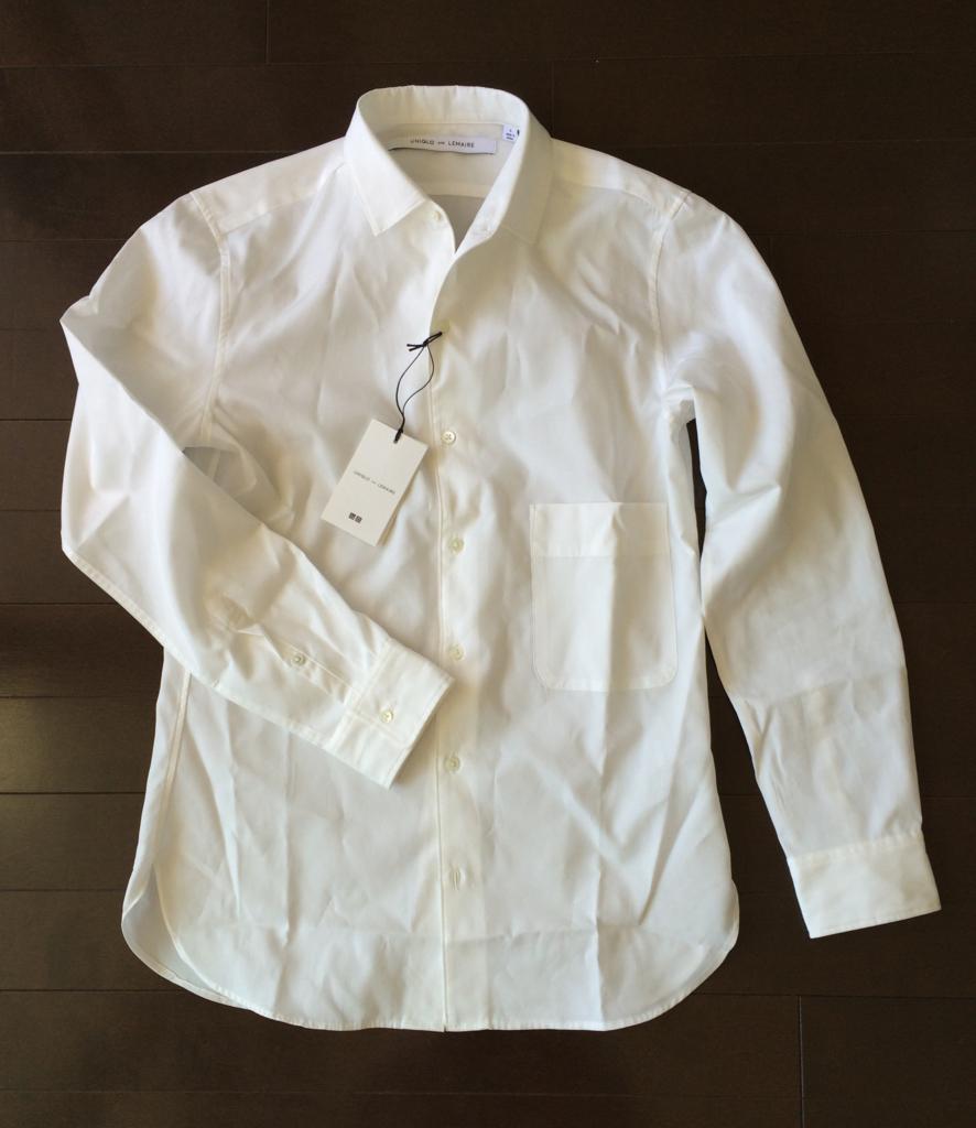 コンバーチブルカラーシャツ 白