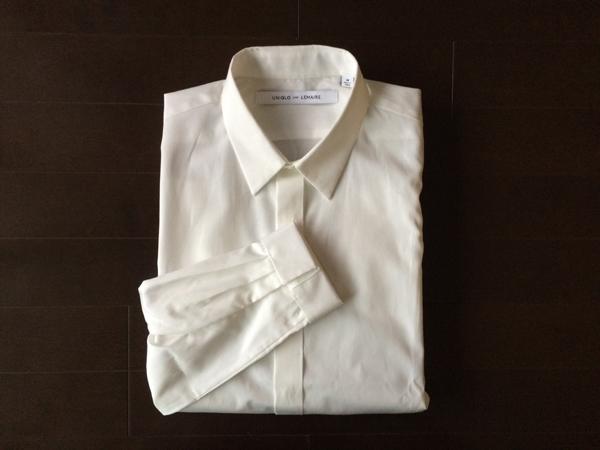 レギュラーカラーの白シャツ(ユニクロ アンド ルメール)