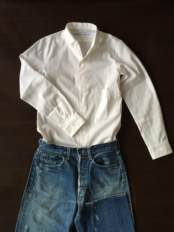 白シャツとリーバイス501