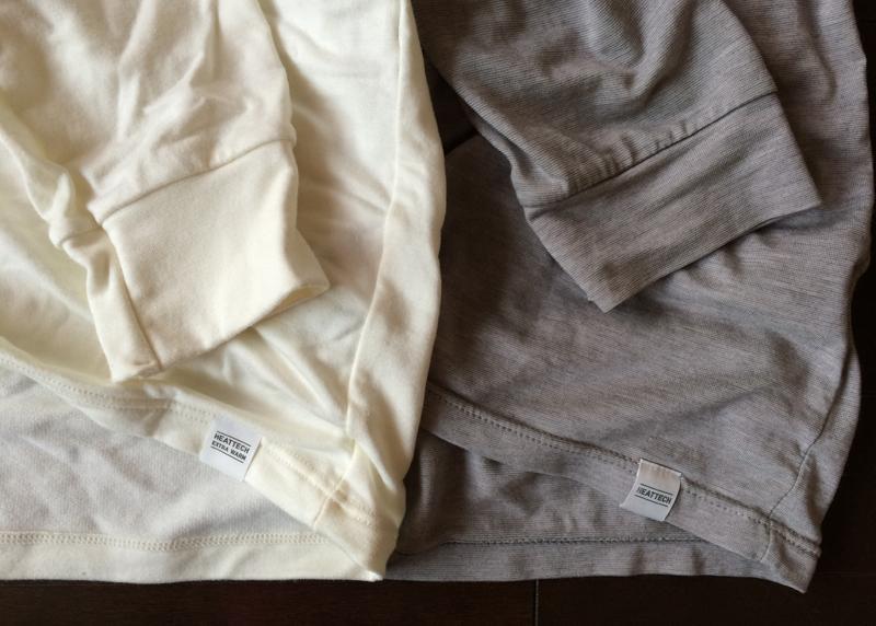 袖口と生地の比較