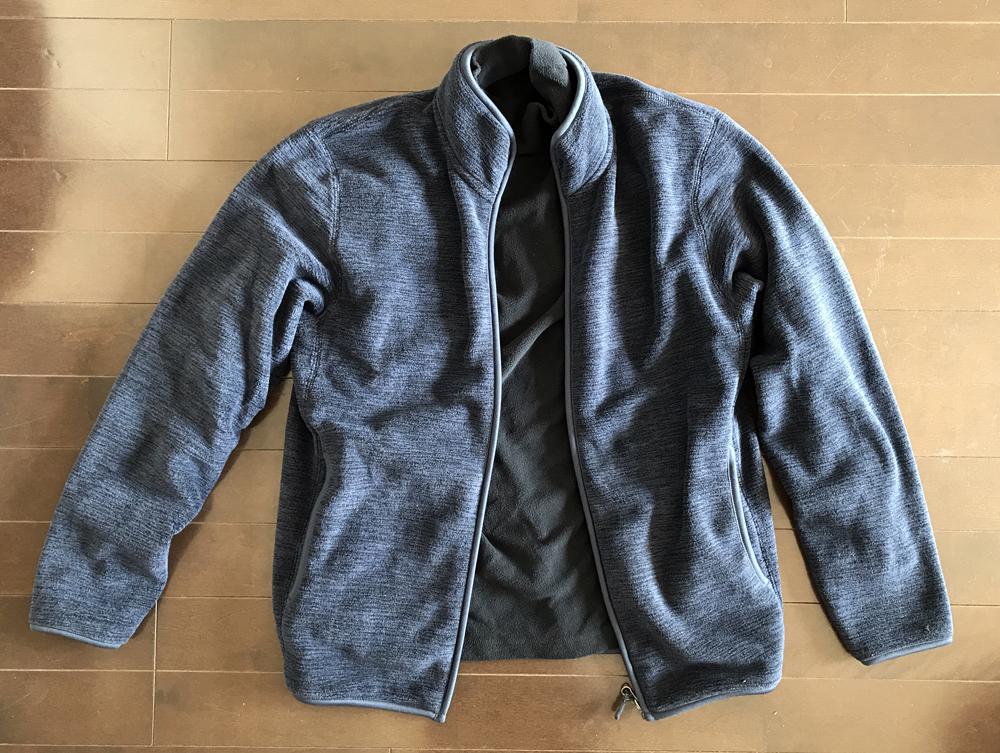 ミックスカラーのフリース 紺