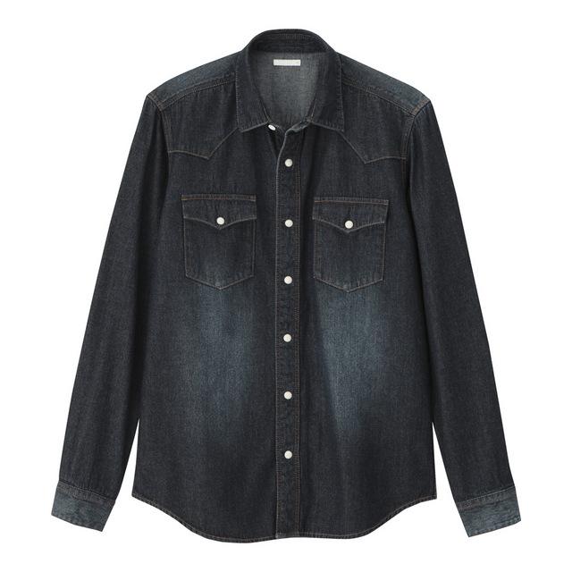 GUのデニムウェスタンシャツ3