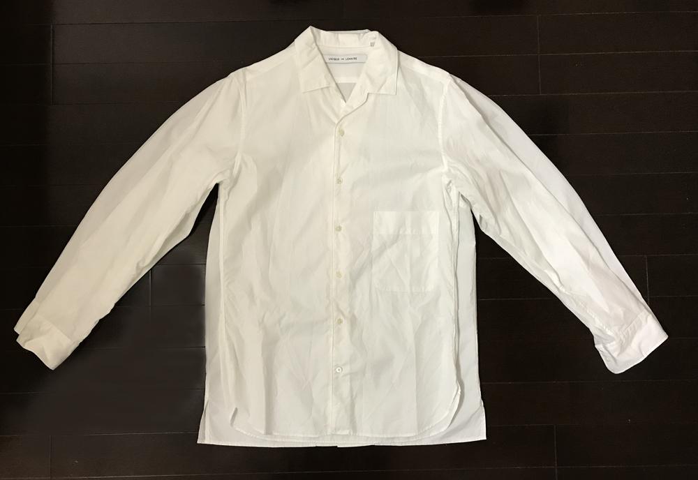 ユニクロユー2018春夏 オープンカラーシャツ2