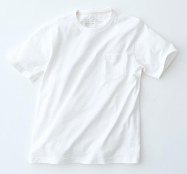 オーガニックコットン太番手ボーダークルーネック長袖Tシャツ