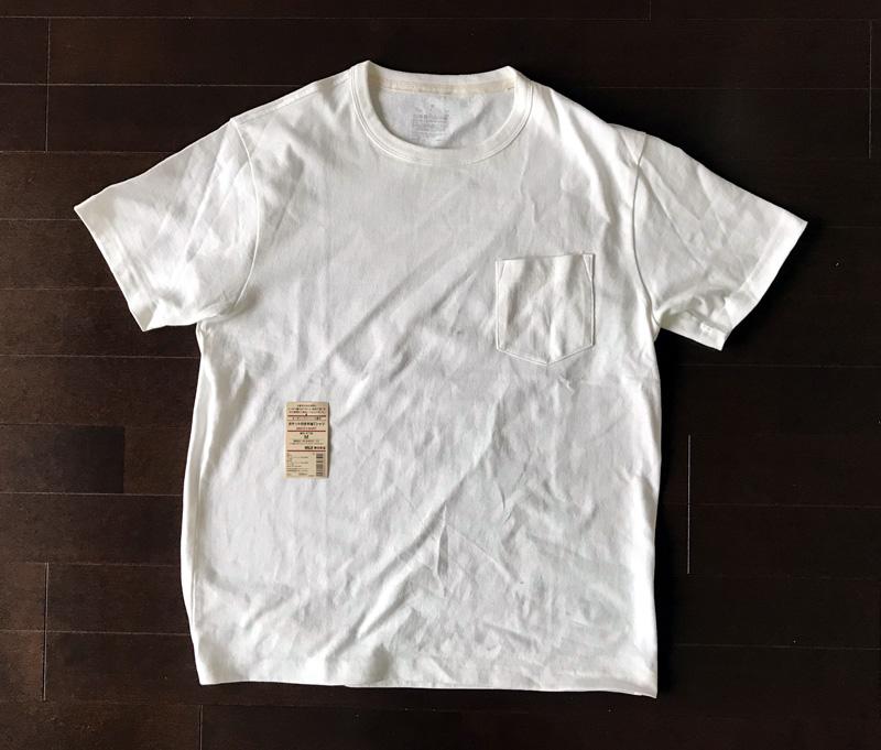 オーガニックコットン太番手ポケット付き半袖Tシャツ