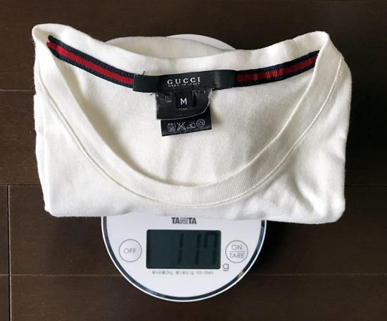 ユニクロユーと無印良品白Tシャツの重量の分析1