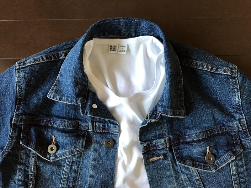 ユニクロとJWアンダーソンのデニムジャケットの比較 白Tシャツ2