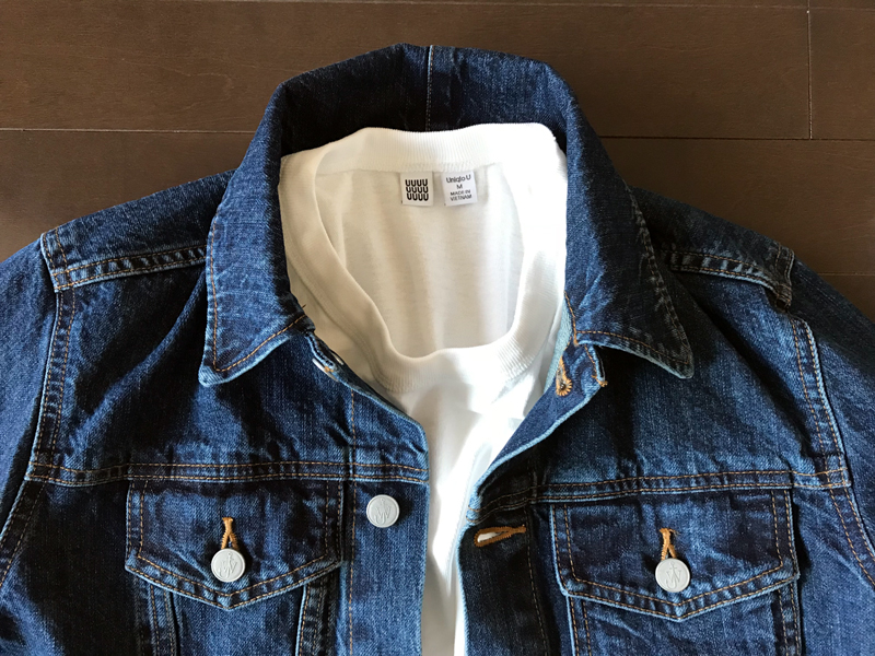 ユニクロとJWアンダーソンのデニムジャケットの比較 白Tシャツ3
