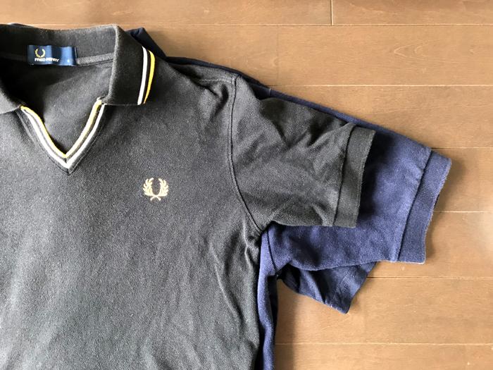 ビームスとジャーナルスタンダートとラルフローレンのポロシャツの袖のデザイン
