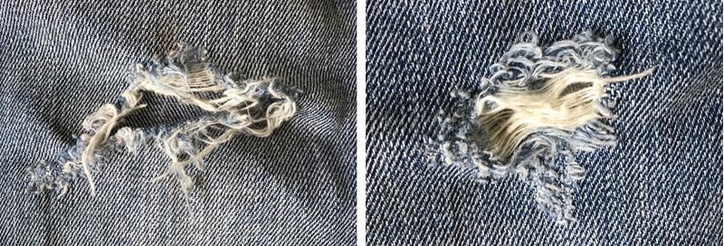 ユニクロのダメージジーンズの穴1