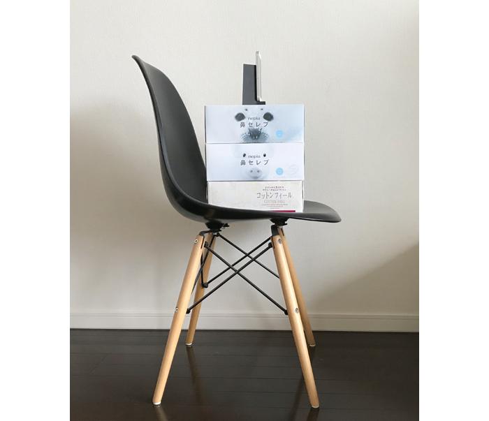 椅子での70センチ代用例