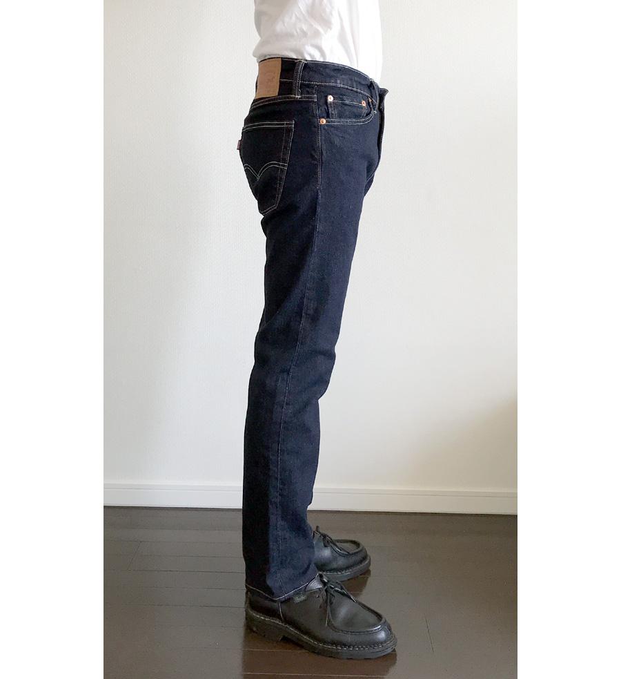 リーバイス513 シングル履き 横