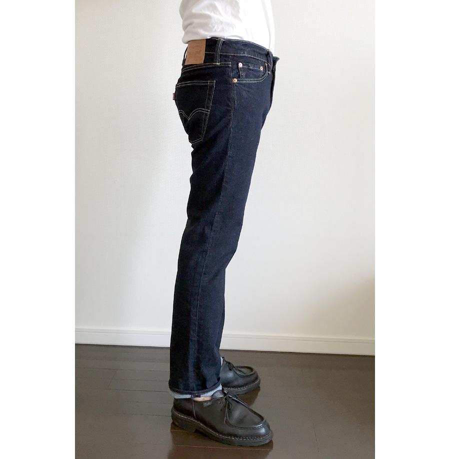 リーバイス513 2㎝ロールアップ履き 横