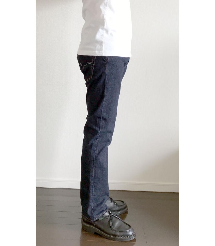 ユニクロユー クルーネックTのSサイズとリーバイス513(ジャストサイズ)2