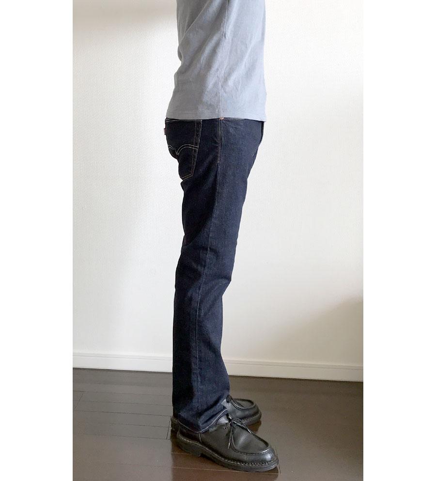 ユニクロユー クルーネックTのSサイズとリーバイス513(ジャストサイズ)5