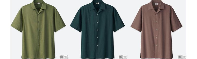 ユニクロ|オープンカラーシャツ(半袖)