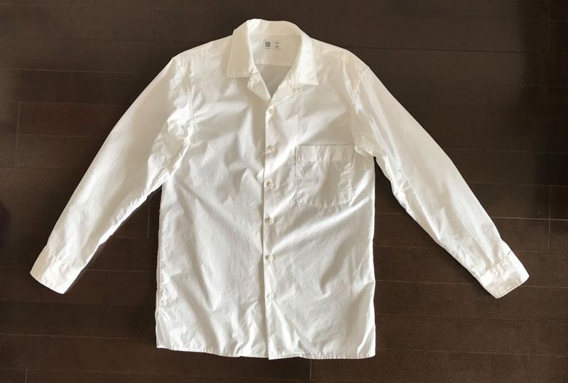 ユニクロユー オープンカラーシャツ長袖