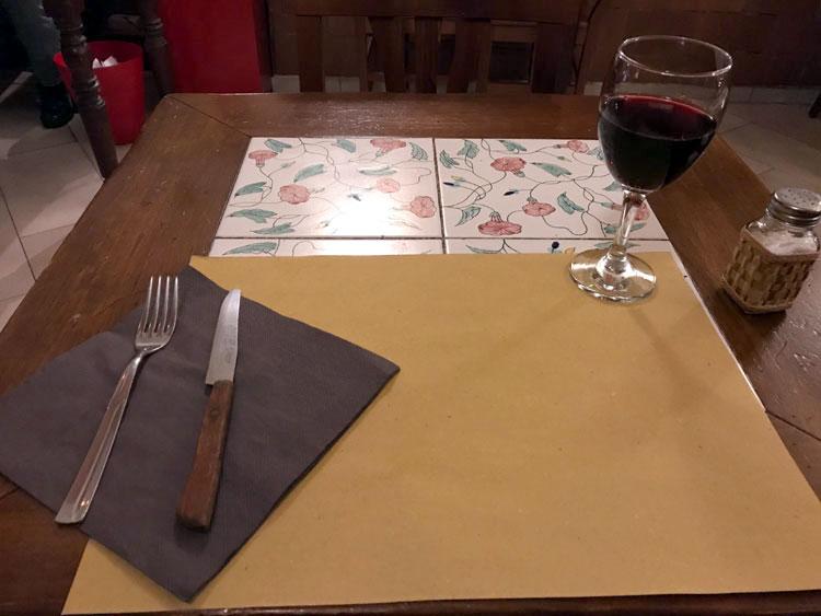 フィレンツェ駅近くの食堂で タリアッテレ・ア・ラグー