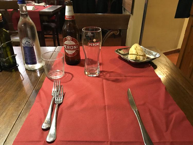 ビステッカ・アッラ・フィオレンティーナ定食 ビール