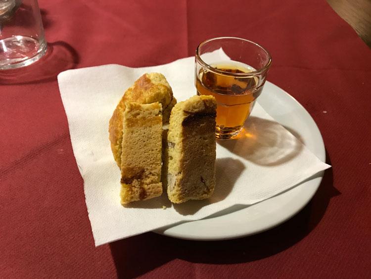 ビステッカ・アッラ・フィオレンティーナ定食 デザート