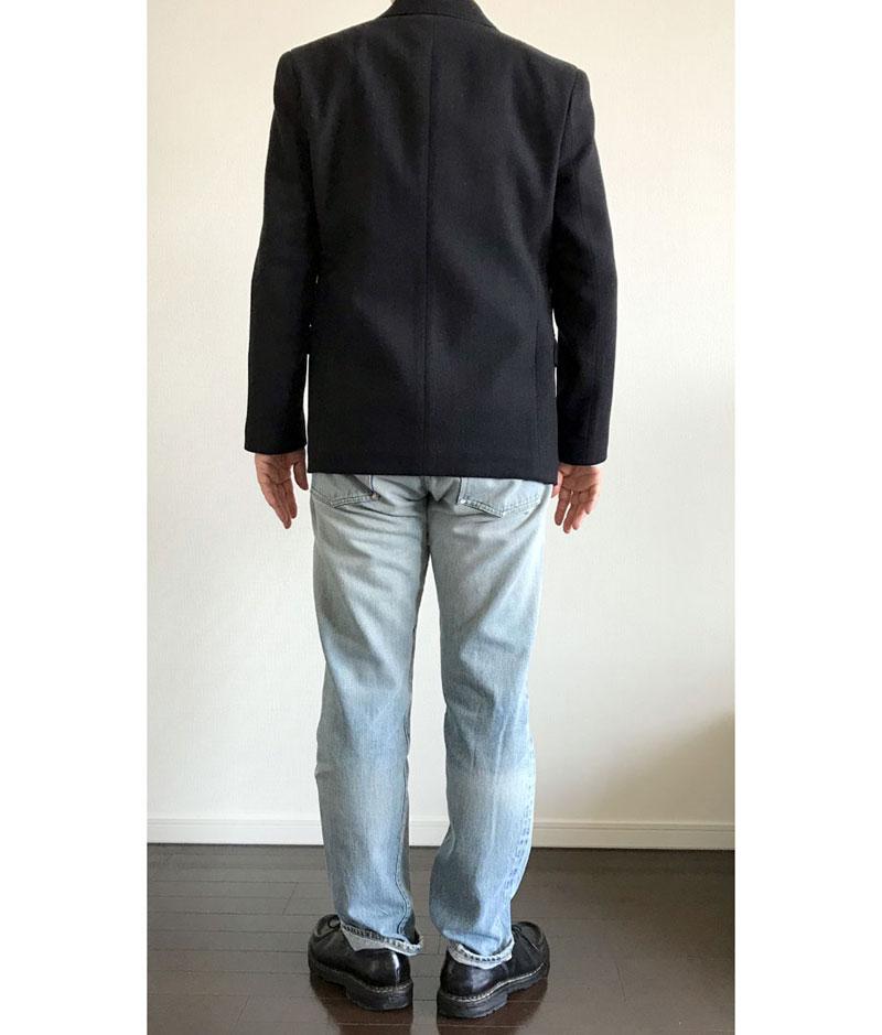 ユニクロルメール ウールカシミアジャケット黒(3B)