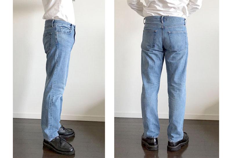ZOZOオックスフォードシャツの着用イメージ・タックイン