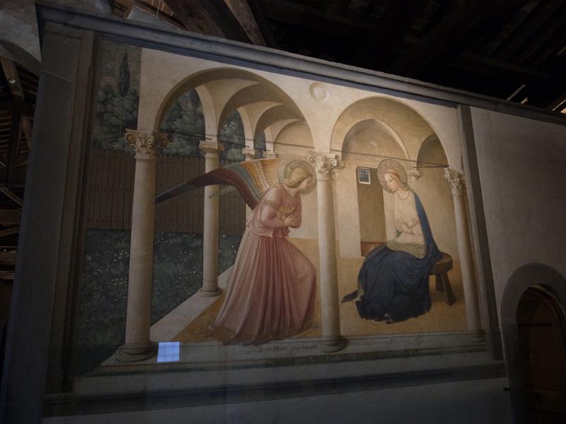フラ・アンジェリコ「受胎告知」(サン・マルコ美術館)