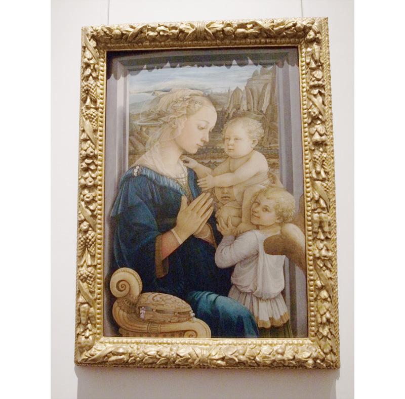 フィリッポ・リッピ「聖母子と二天使」 (ウフィツィ美術館)