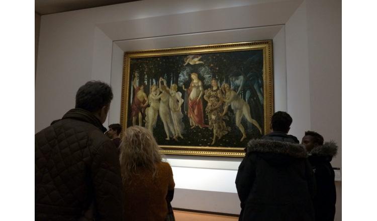 ボッティチェリの代表作の「プリマヴェーラ」