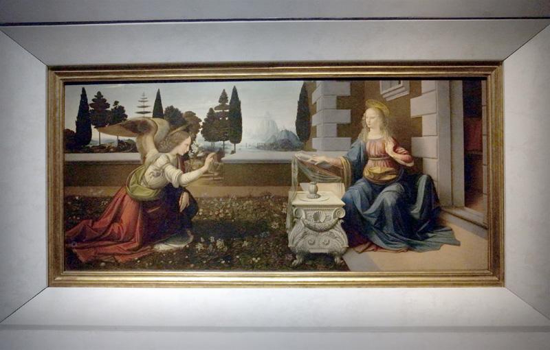 レオナルド・ダ・ヴィンチ「受胎告知」(ウフィツィ美術館)