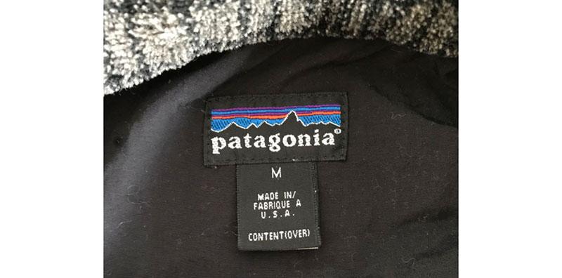 パタゴニア 雪ありタグ