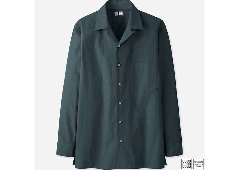 オープンカラーシャツ(長袖)
