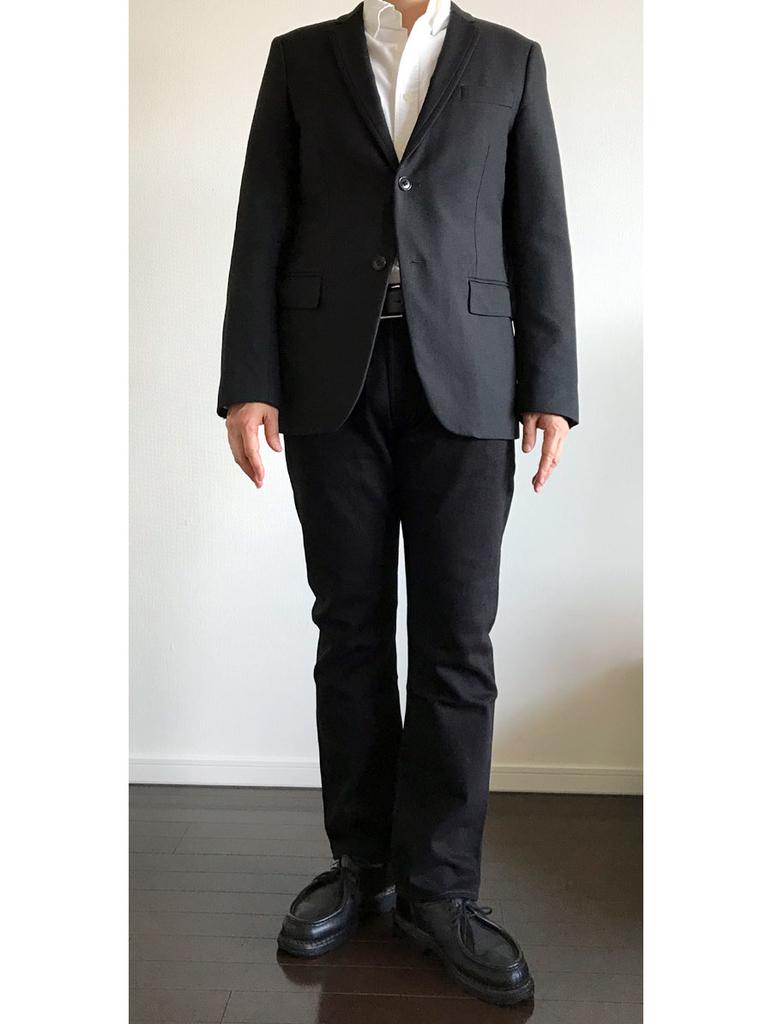 リーバイス501ブラック・ビジネス標準コーデ