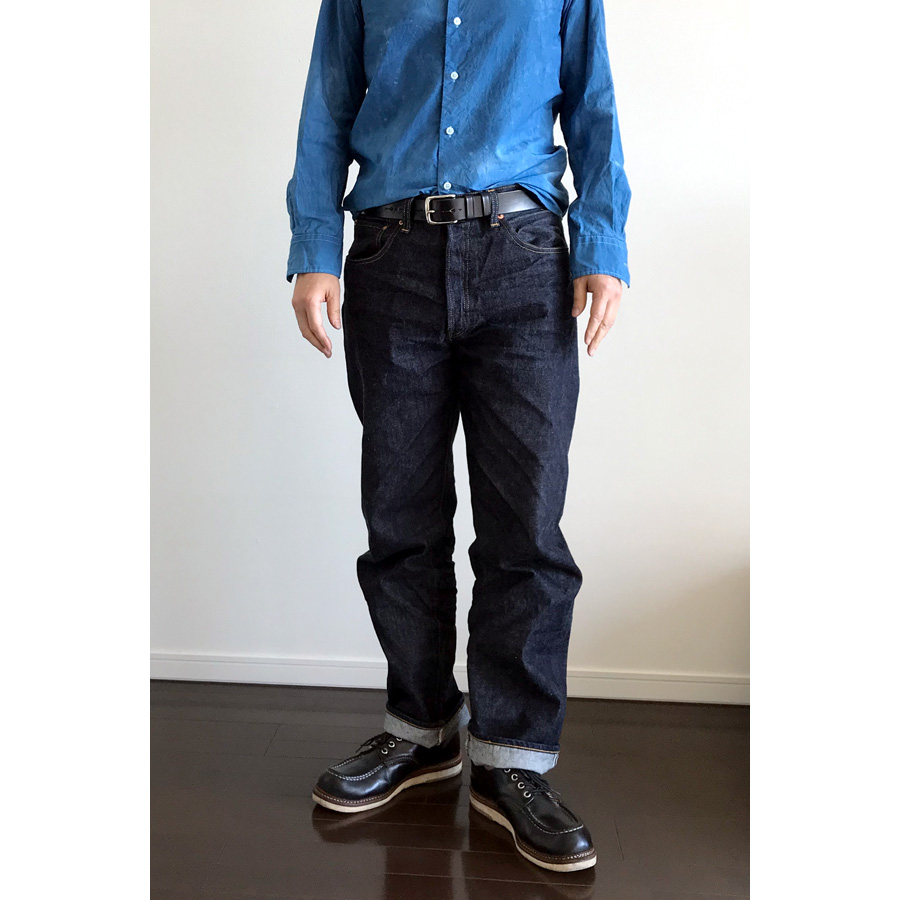 ユニクロユーのブロードシャツ2のインディゴ染