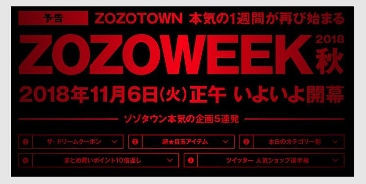 ZOZOWEEK企画5連発の分析