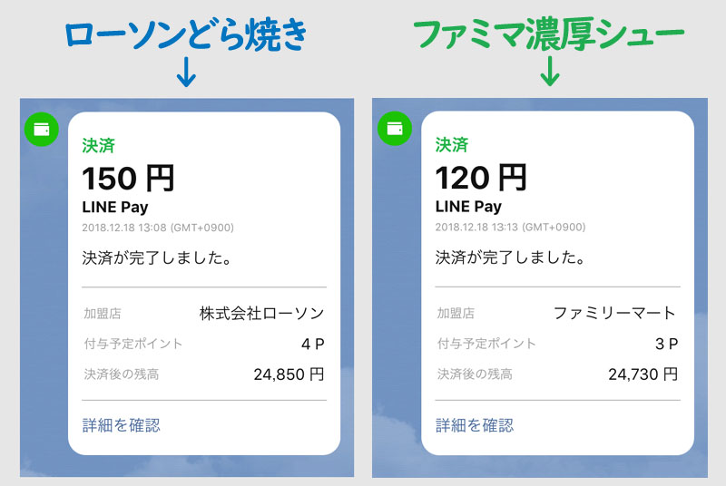 ステップ2:LINE Pay使用で25,000円分の買い物をする