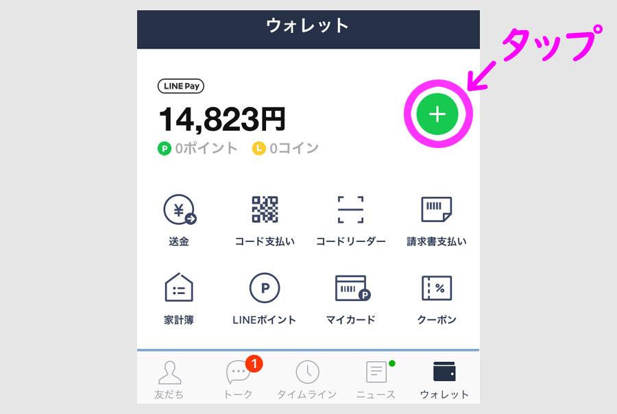 LINE Payバーチャルカードを発行1