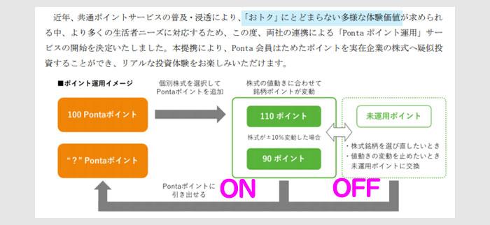 Pontaポイント運用のプレスリリースをチェック2