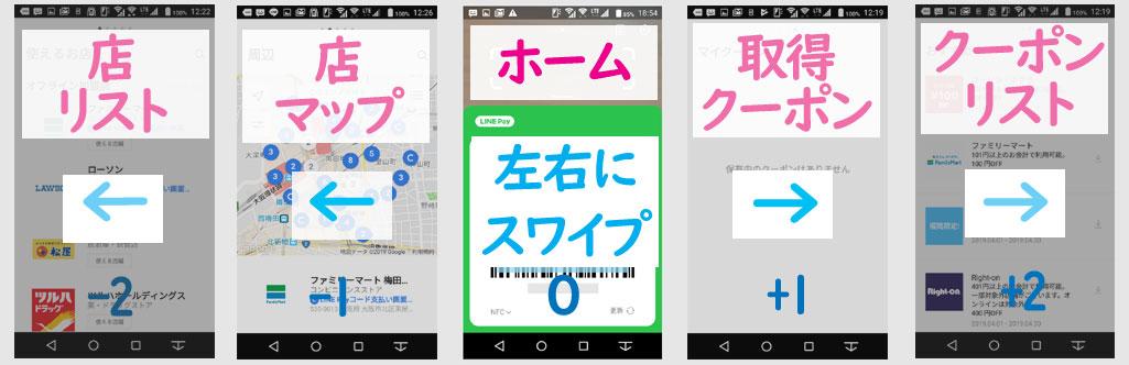 新生LINE Payアプリのストラクチャー1