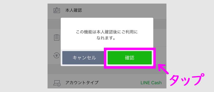 LINE Pay 郵送本人確認4