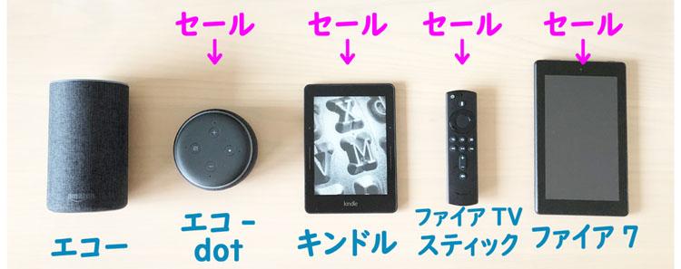 愛用しているamazonデバイス