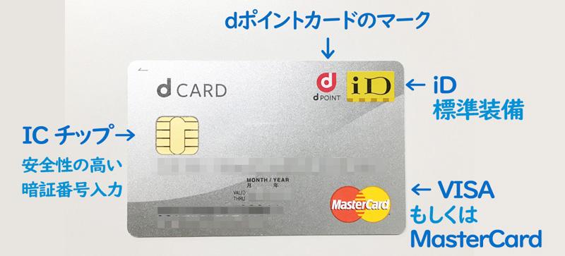 dカード 最初からiDが搭載