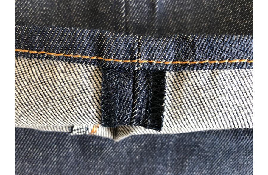 レギュラーの裾部分の拡大