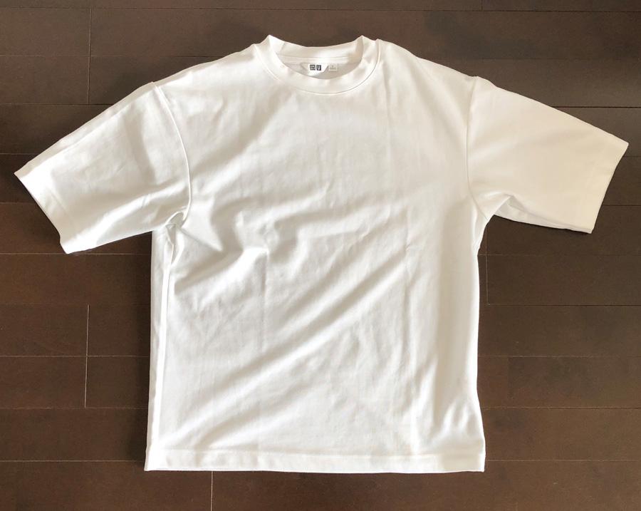 ユニクロユー2020SSエアリズムコットンオーバーサイズTシャツ1
