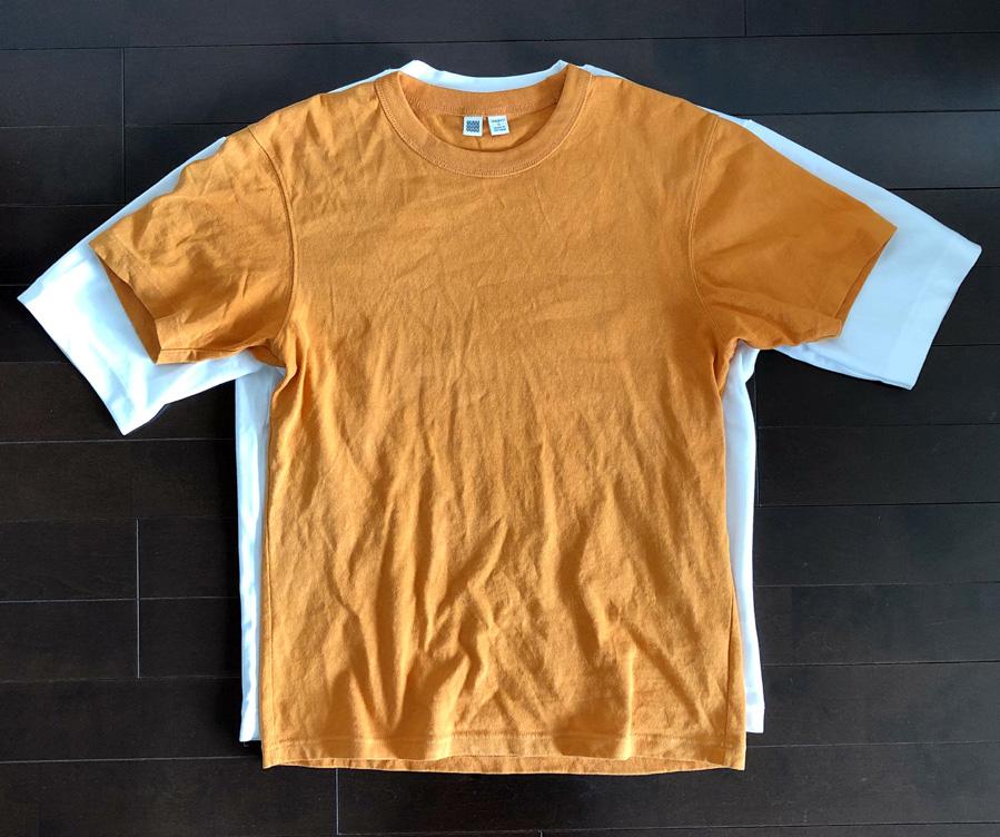 ユニクロユー2020SSエアリズムコットンオーバーサイズTシャツ2