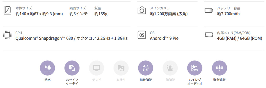 Xperia Ace(54800円)2