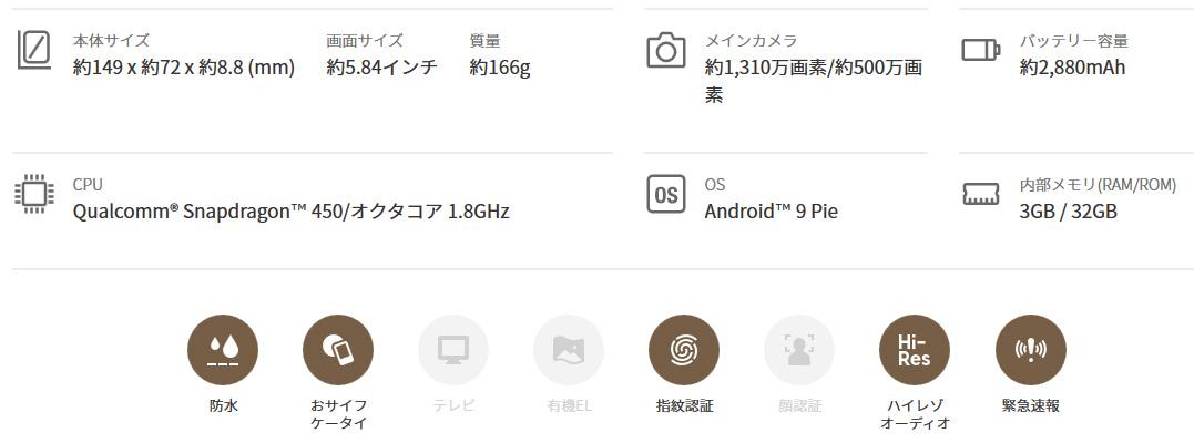 arrows RX(32800円) - 楽天モバイル2