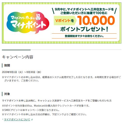 三井住友カード(1万円が100人に)