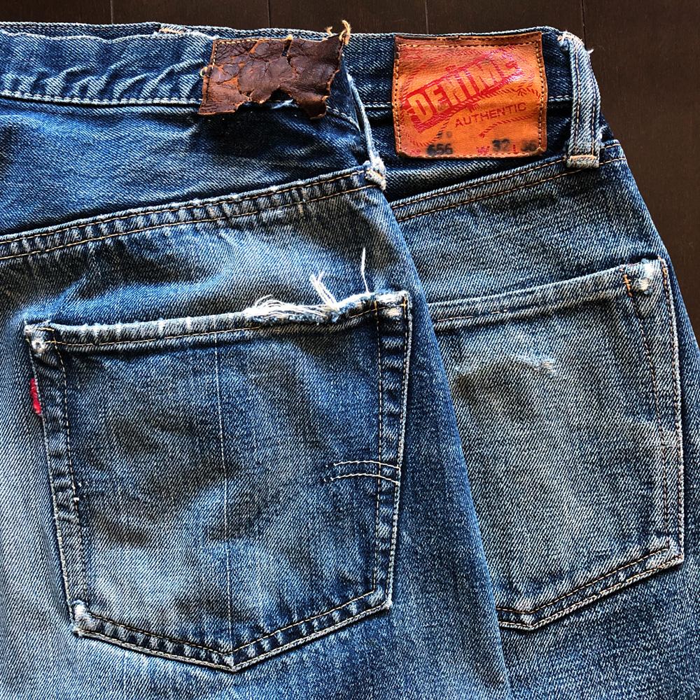 リーバイス501XXダブルエックスと旧ドゥニームXXタイプの色落ちの比較 バックポケット