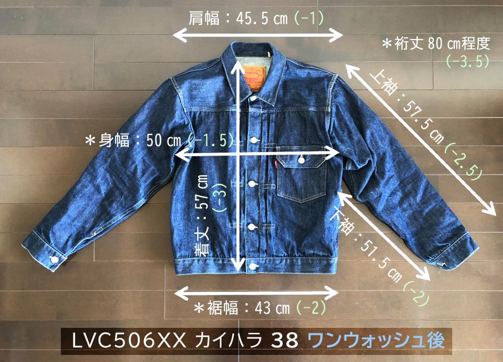 LVC506XX ワンウォッシュ前後の各寸法2